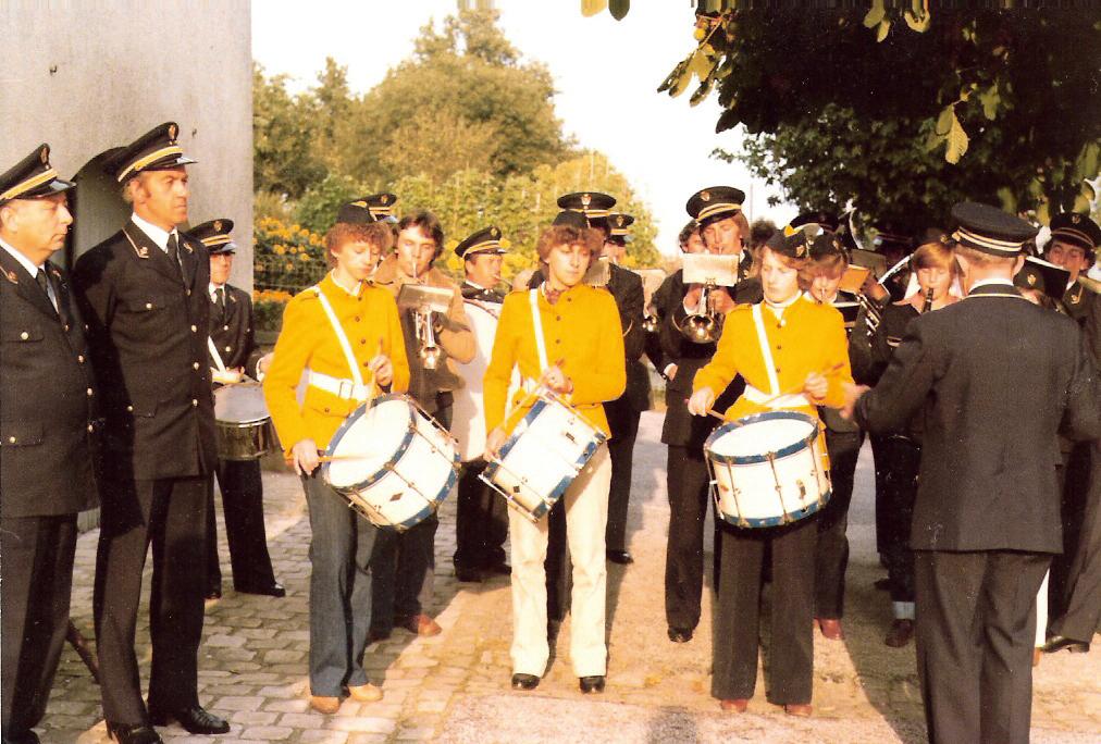 Sechsköpfige Trommlergarde sorgten für Pepp und Schwung in den 1960er Jahren